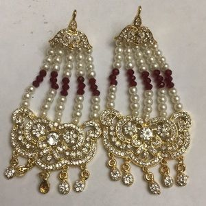 Jewelry - NWOT Jhoomar Style Earrings 4 inches long